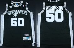 San Antonio Spurs #50 David Robinson Black Throwback Swingman Jersey