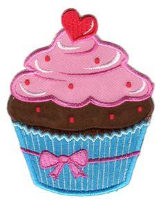 Cupcake Cup Cake Patch Iron On rétro CHERRY Gothique appliqué Cute Kids Rockabilly