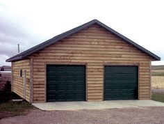 Shop our selection of pre-priced garage projects, available in a wide variety of styles and siding options. Timber Garage, Pole Barn Garage, Garage House, Car Garage, Wooden Garages, Pole Barns, Rustic Man Cave, Siding Options, Log Siding
