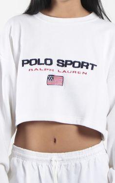 X Vintage Polo Sport Crop Sweatshirt Other Outfits, Cool Outfits, Casual Outfits, Fashion Outfits, Victoria Fashion, Polo Sport Ralph Lauren, Cute Crop Tops, Vintage Outfits, Autumn Fashion
