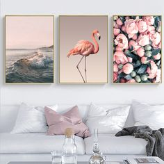 SURE LIFE Romantic Pink Peony Flamingo Love Wall Art Pictures Canvas Paintings Nordic Posters Prints Bedroom Home Decorations Love Canvas Painting, Canvas Wall Art, Wall Art Prints, Canvas Paintings, Canvas Prints, Love Wall Art, Wall Art Decor, Wall Art Pictures, Canvas Pictures