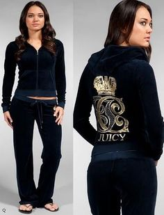Blue juicy couture velour track suit