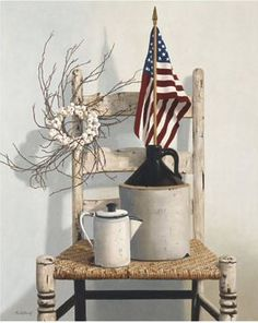 """Stupell Industries 12 in. x 18 in. """"Vintage Rustic Things American Flag Neutral Painting"""" by Cecile Baird Wood Wall Art - The Home Depot Wood Wall Art, Framed Wall Art, Art Encadrée, American Flag Painting, Thing 1, Flag Art, Rustic Frames, Neutral Paint, Wood Print"""