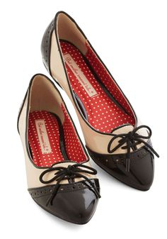 Candy Apple Sweet Flat in Monochrome. They say an apple a day keeps you healthy - flaunt these patent, pointed ballet flats from Bait Footwear on a regular basis and enjoy their many benefits!  #modcloth