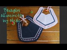 Bavaglino all'uncinetto / Crochet baby bib - YouTube