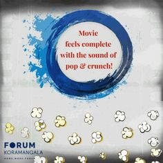 Is your movie ever complete without crunching on some popcorn? #FoodForThought