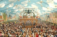 Oktoberfest - Munich's famous beer festival. The Oktoberfest Munich is one of the largest festivals in the world.