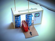 Make different shop fronts using shoe boxes, rainy day activity