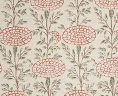 "Lisa Fine Textiles ""Samode"" in Poppy Print Wallpaper, Fabric Wallpaper, Fabric Decor, Fabric Design, Textile Design, Pattern Art, Pattern Design, Retro Pattern, Fabric Patterns"