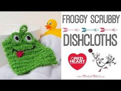 How to Knit the Froggy Scrubby in Red Heart Scrubby Yarn | Red Heart