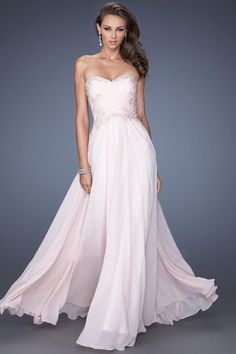 ♡2014 Dresses Sweetheart Fitted And Ruched Bodice With Applique Pick Up Flowing Chiffon Skirt- VoguePromDresses♡