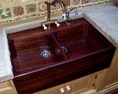 Rosewood sink