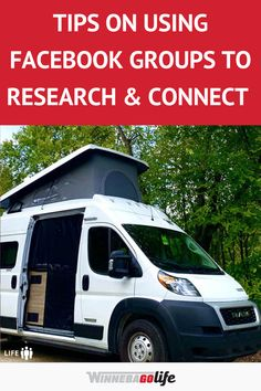 Looking for ways to connect with like-minded rv'ers and research rv'ing topics? Using Facebook is a valuable tool to bring community forums to you. Whether you are learning the ropes of rv life or a full-time rv'er these tips will help you learn everything about rv'ing. From campground reviews, rv owner forums, to popular rv destinations, and so much more. These are the best ideas for rv'ers to use to make rv life easier. #WinnebagoLife #RVLife #RversUsingFacebook #RVFacebookGroups Ways To Travel, Rv Travel, Connected Life, Camping For Beginners, Best Places To Camp, Best Facebook, Road Trip Adventure, Rv Parks, Rv Life