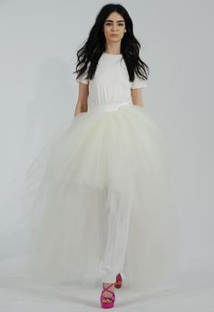 Tiered Tulle Pant Wedding Dress | Houghton Bride Fall/Winter 2015 | Blog.theknot.com