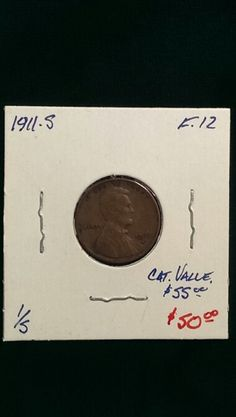 1911-S Lincoln Cent F-12