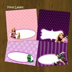 Tangled Rapunzel Food Labels - Rapunzel Tangled Printable Food Labels (Disney Tangled) - INSTANT DOWNLOAD by SplashboxPrintables on Etsy https://www.etsy.com/listing/97731313/tangled-rapunzel-food-labels-rapunzel
