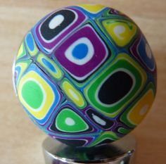 Polymer Clay Wine Bottle Stopper Green/ Blue by NaturesPresents, $14.00