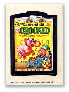 Topps Wacky Packages  13th Series 1975 CROCKED MAGAZINE