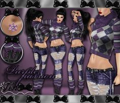✿☆ ¸. • * ¨ * • ☆NEW IN MY SHOP!!!☆ ¸. • * ¨* • ✿  ✮ PURPLE PASSION JEANS BUNDLE: http://www.imvu.com/shop/product.php?products_id=36430855  *Comes with sweater jeans outfit, earrings, and warmer boots.  ✿My Full Catty:  http://www.imvu.com/shop/web_search.php?manufacturers_id=95572994  ✿SellingBeauty Catty:  http://www.imvu.com/shop/web_search.php?manufacturers_id=102695625  ✿☆ ¸. • * ¨ * • ☆NEW IN MY SHOP!!! ¸. • * ¨* • ☆✿