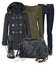"""Duffle Coat"" by orysa ❤ liked on Polyvore featuring Acne Studios, Barbour, NADA SAWAYA and mizuki"