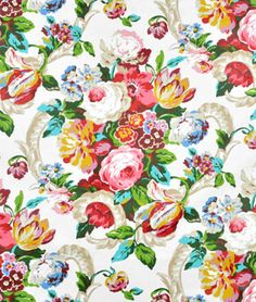 Shop Waverly Spring Bling Spring Fabric at onlinefabricstore.net for $17.35/ Yard. Best Price & Service.