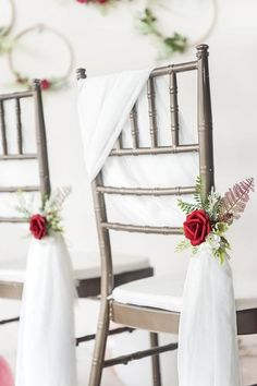 Topic Flower Chair Sashes for Wedding Aisle Chair Decor ( Set of 6 ) - - Wedding Chair Sashes, Wedding Chair Decorations, Wedding Chairs, Wedding Chair Covers, Pew Flowers, Church Flowers, Christmas Wedding Centerpieces, Wedding Table Centerpieces, Decoration Evenementielle