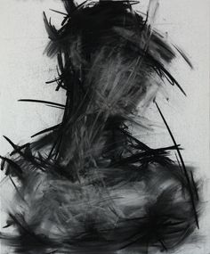 Artist: KwangHo Shin; untitled charcoal on canvas