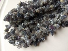 Iolite Rough Chips  Iolite Raw Beads  Natural by gemsforjewels