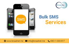 When it comes to sending #bulk #SMS to your targeted audiences or other people then BroadNet Technologies should be your first choice because we can help you deliver a maximum volume of text messages.  We offer a heightened level of dependable and smart SMS service that will help you get your messages delivered to the recipient in a wink.
