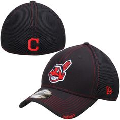 Cleveland Indians New Era Neo 39THIRTY Flex Hat - Navy f4566fed7ac