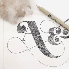 Beautiful details in this work by @littlepatterns   #typegang if you would like to be featured   typegang.com #typegangtw