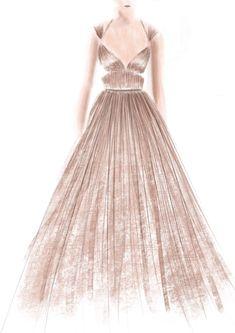 #drawing #dress #color #artwork #sketch #illustration #fashion #design #graphic #beauty #dior
