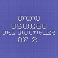 www.oswego.org multiples of 2 Multiplication, Maths, Periodic Table, Weather, Education, Periodic Table Chart, Periotic Table, Onderwijs, Weather Crafts