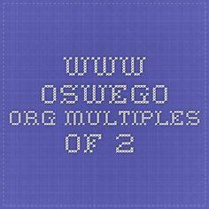 www.oswego.org multiples of 2