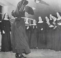 Sister Margaret was the hoola hoop champion
