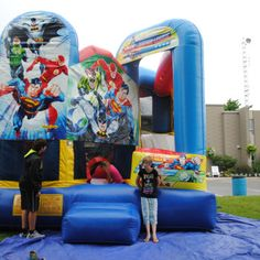 Play the Super Hero Obstacle Course on Saturday at