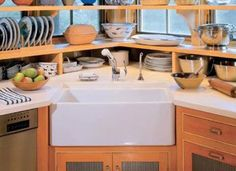 23 best Kitchens Corner Sinks images on Pinterest | Kitchens, Corner ...