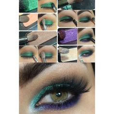 14 Little Mermaid Makeup Tutorials to Make Your Disney Dreams Come... ❤ liked on Polyvore featuring beauty products, makeup, disney makeup and disney