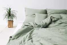 Sage Green bedding - for nature lovers! Pure Cotton bedding by HOP DESIGN