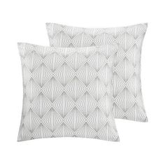 Silver Geometric Throw Pillow Set ($50) ❤ liked on Polyvore featuring home, home decor, throw pillows, silver, geometric home decor, colored throw pillows, geometric throw pillows, metallic silver throw pillow and patterned throw pillows