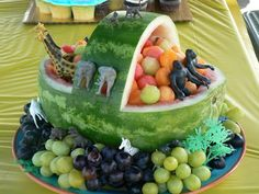 Made this for Sophia and Jacob's Noah's Ark birthday party!