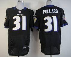Nike Baltimore Ravens #31 Bernard Pollard Black Elite Jersey