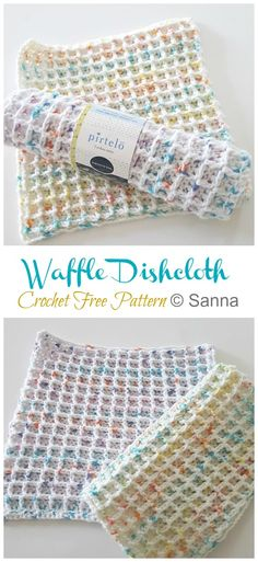 Waffle Dishcloth Crochet Free Patterns - Free Crochet Patterns Knitting ProjectsKnitting For KidsCrochet PatternsCrochet Ideas Crochet Gratis, Free Crochet, Knit Crochet, Dishcloth Crochet, Crochet Dishcloths Free Patterns, Crochet Dish Towels, Patron Crochet, Easy Knitting Projects, Crochet Projects