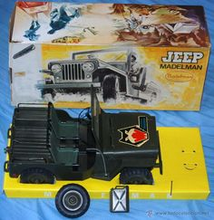¡¡¡LOS ORIGINALES!!! MADELMAN ORIGINAL MADEL S.A AÑOS 70/80 JEEP COMANDO VERDE EN CAJA C-9 Old Toys, Gi Joe, Vintage Toys, Big Kids, Military Vehicles, Nostalgia, Memories, Classic, Lisbon