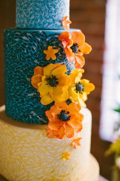 Van Gogh Inspired Cake