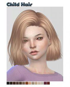 Nightcrawler child hair retexture at ShySims via Sims 4 Updates