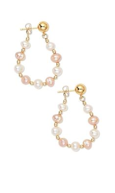 DIY Bijoux  Jewelry Design  Earrings with Cultured Freshwater Pearls and Gold-Plated Brass