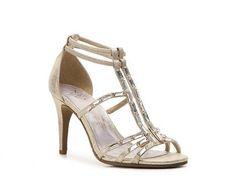 New York Transit Aspire Sandal in [light] gold metallic from DSW— $24.94