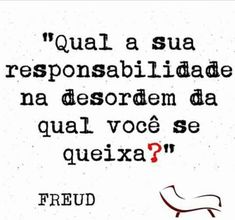 Responsibility by Freud The Words, More Than Words, Cool Words, Sigmund Freud, Story Instagram, Motivation, Sentences, Quotations, Coaching