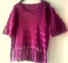 Camisola em crochet